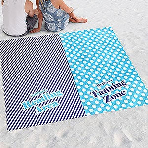 Personalized Beach Blanket - The Happy Couple - 18384