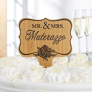 Personalized Cake Topper - Engraved Wood Name - 18412