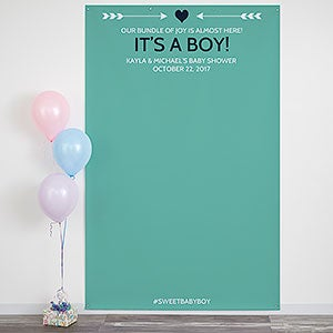 Personalized Photo Backdrop - Baby Shower - 18451