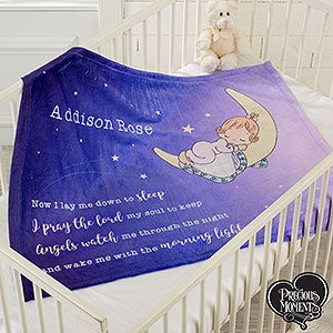 Precious Moments Personalized Baby Fleece Blanket - 18477