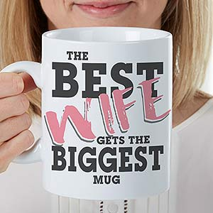 Custom Oversized Coffee Mugs - Wold's Best - 18484