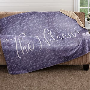Personalized Sherpa Blanket - Together Forever - 18491