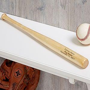 Personalized Mini Baseball Bats - Ring Bearer Gift - 18494