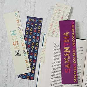 Personalized Paper Bookmarks - Stencil Name - 18512