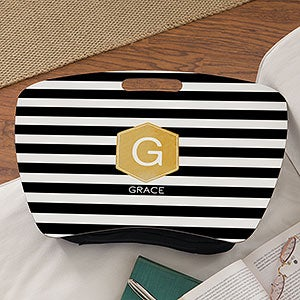 Personalized Lap Desk - Modern Stripe - 18522
