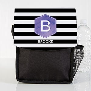 Personalized Lunch Bag - Modern Stripe - 18523