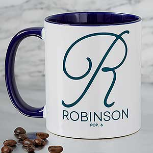 Personalized Coffee Mugs - Name & Initial - 18544