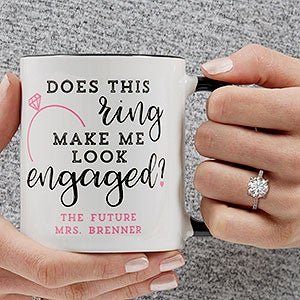 Personalized Engagement Coffee Mugs - 18546