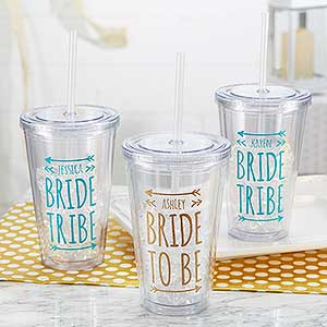 Bride Tribe - Personalized Wedding Tumbler - 18556