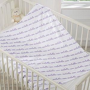 Personalized Fleece Baby Blankets - Playful Name - 18557