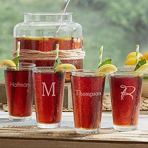 Custom Engraved Drinking Glasses - Classic Celebrations - 18565