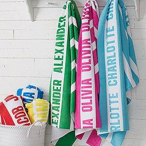 Personalized Beach Towels - Classic Stripe - 18571