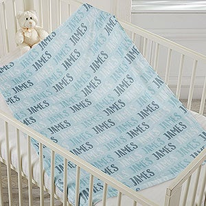 baby boy name personalized fleece blanket