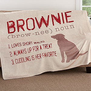 Personalized Fleece Blanket - Definition Of My Dog  - 18587