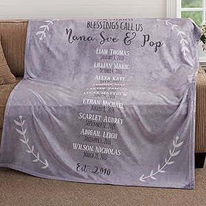 Personalized Fleece Blankets - Our Grandchildren - 18589