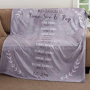 Personalized 60x80 Fleece Blanket Grandchildren Gifts