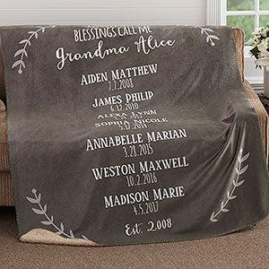 Personalized Premium Sherpa Blankets - Grandchildren - 18590