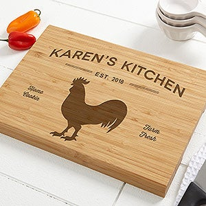 Personalized Bamboo Cutting Board - Farmhouse Kitchen - 18600