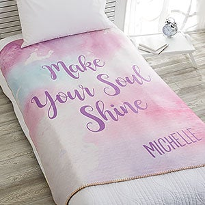 Personalized Sherpa Blankets - Watercolor Design - 18616