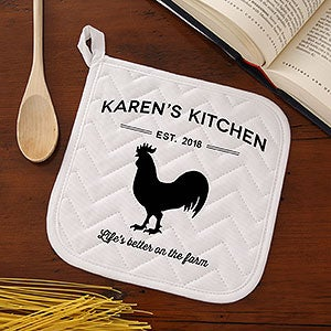 Personalized Apron & Potholder - Farmhouse Kitchen - 18633