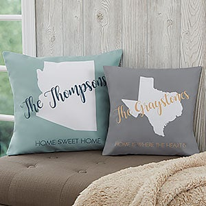 Personalized Throw Pillows - State Pride - 18636