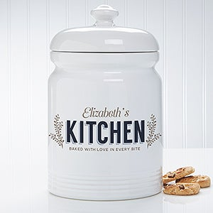 personalized cookie jar her kitchen