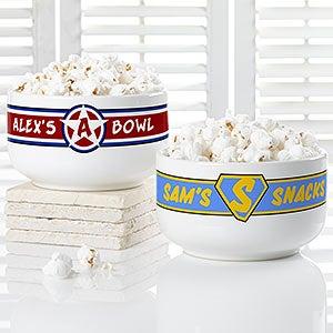 Personalized Bowls - Super Hero Design - 18641