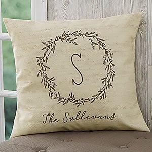 Personalized Throw Pillows - Farmhouse Floral - 18642