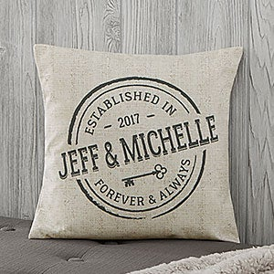 Personalized Throw Pillows - Established Home - 18647