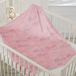 Baby Girl Name Personalized Fleece Blanket - 18669