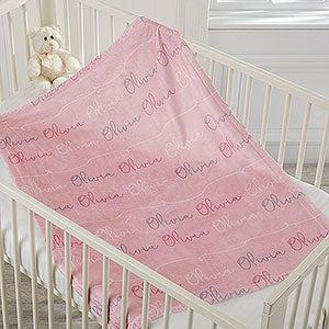 Baby Girl Name Personalized Fleece Blanket - 18669