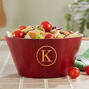Personalized Bamboo Wooden Bowls - Name & Monogram - 18689