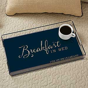 Typography Quotes Personalized Acrylic Serving Tray