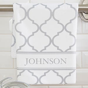 Personalized Hand Towels - Geometric Pattern - 18697