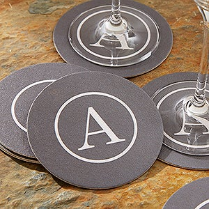 Personalized Paper Coasters - Add Name or Monogram - 18702