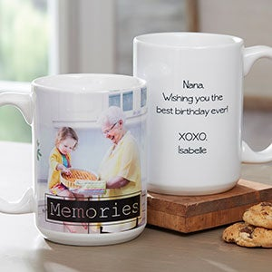 Personalized Photo Coffee Mug with Graphic Overlay - 18714