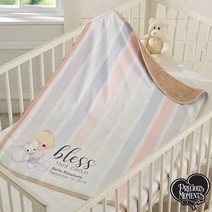 Personalized Baby Sherpa Blankets - Bless This Child - 18716