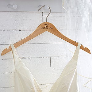 Custom Engraved Wedding Dress Hanger - 18734