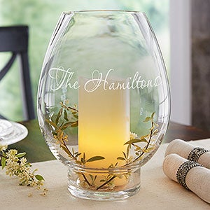 Hurricane Candle Holders - Engraved Name or Monogram - 18741