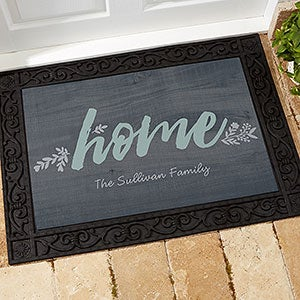 Personalized 18x27 Doormat - Cozy Home