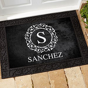 Custom Monogram Doormats - Circle & Vine - 18744