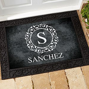 Custom Monogram Doormat - 18x27 - Circle & Vine