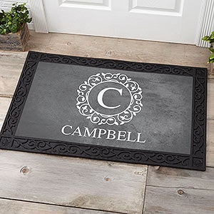 Custom Monogram Doormat - 20x35 - Circle & Vine