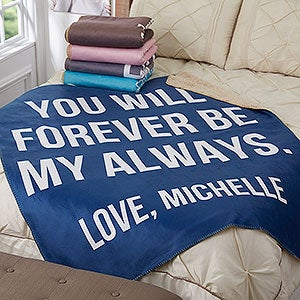 Personalized Sherpa Blankets - Romantic Expressions - 18749