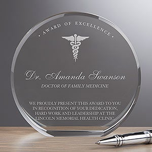 Personalized Crystal Award - Medical Professional - 18780