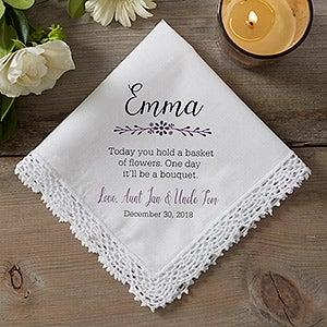 Personalized Wedding Handkerchief - Flower Girl - 18793