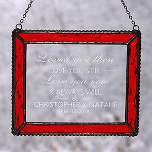 Personalized Suncatcher - I Love You - 18807