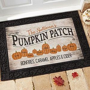 Personalized Halloween Doormats - Pumpkin Patch - 18833