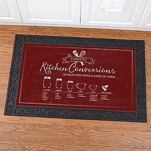 Personalized Doormats - Kitchen Conversion Chart - 18834