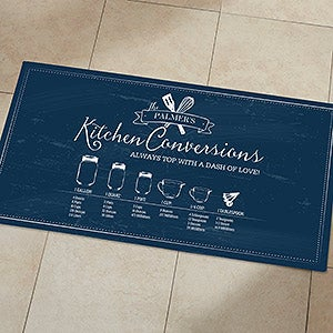 Personalized Doormats - Kitchen Conversion Chart - 18834